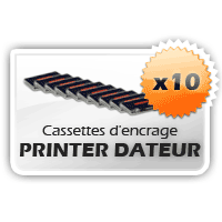 10 Cassettes Printer Dateur Shiny