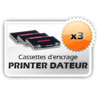 3 Cassettes Printer Dateur Shiny